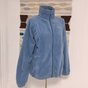 Columbia Light Blue Fleece Jacket size L